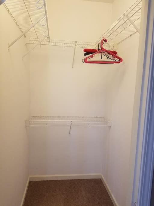 Walk in closet. Great for long term guests who need more storage space!