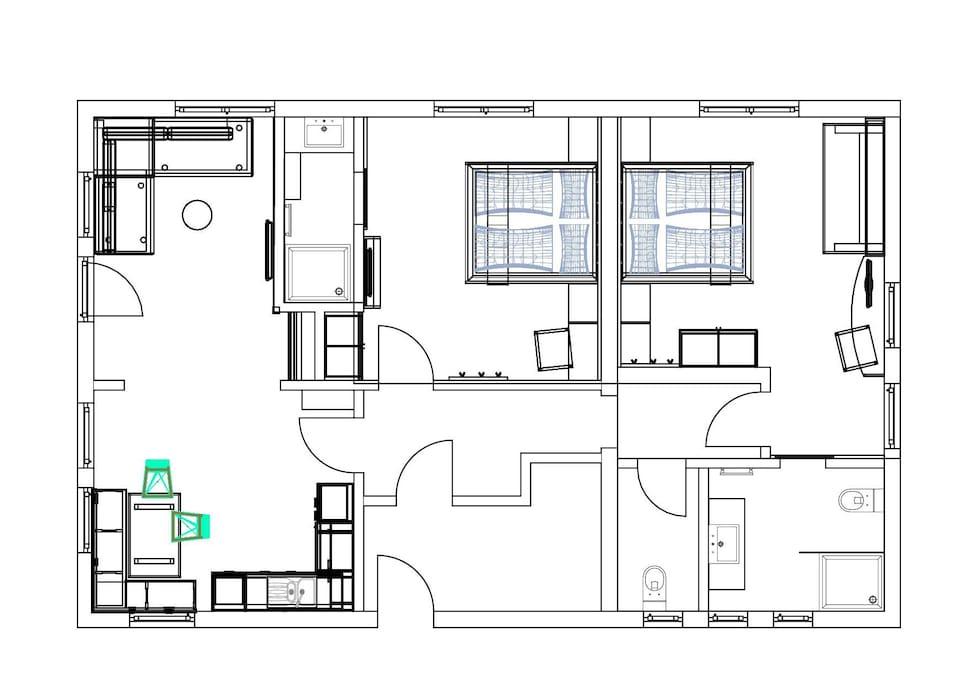 Grundriss Appartement Planai