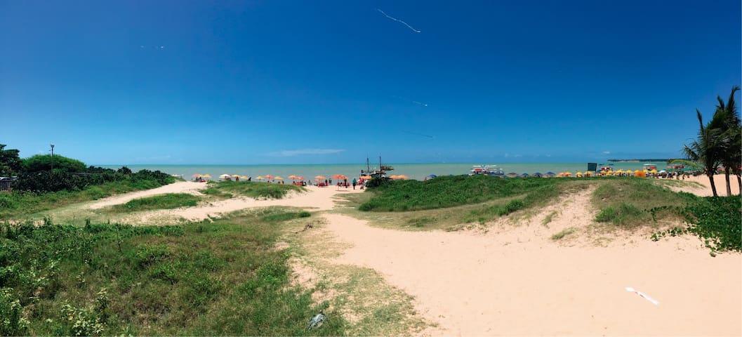 Passeio de acesso a praia direto do Flat