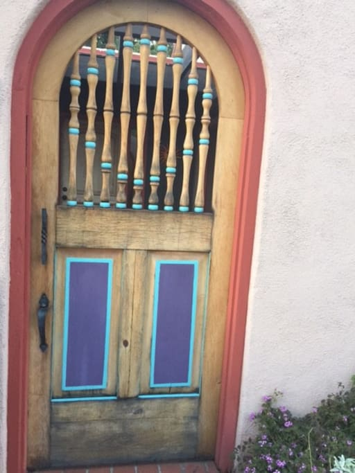 Front door welcoming you.