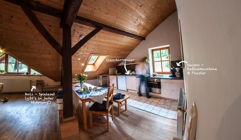 3-Zimmer-Wohnung für 5 unterm Dach