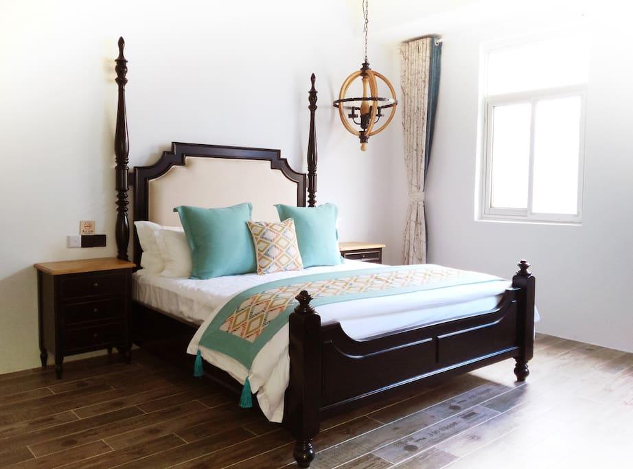 美式家庭套房客厅+卧室+大榻榻米