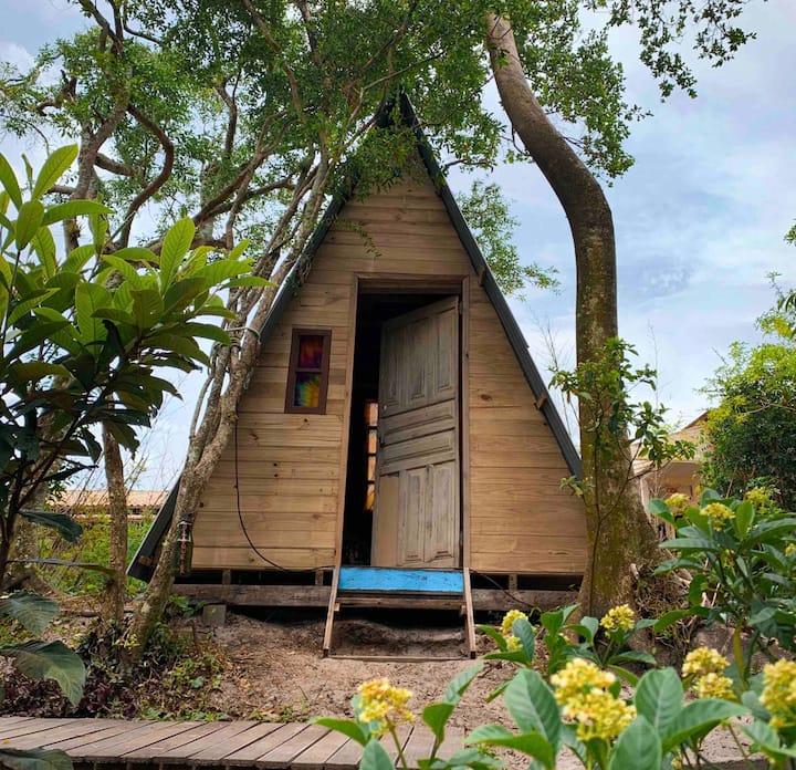 Cabana Urubú: Linda Vista para pedra do Urubú!