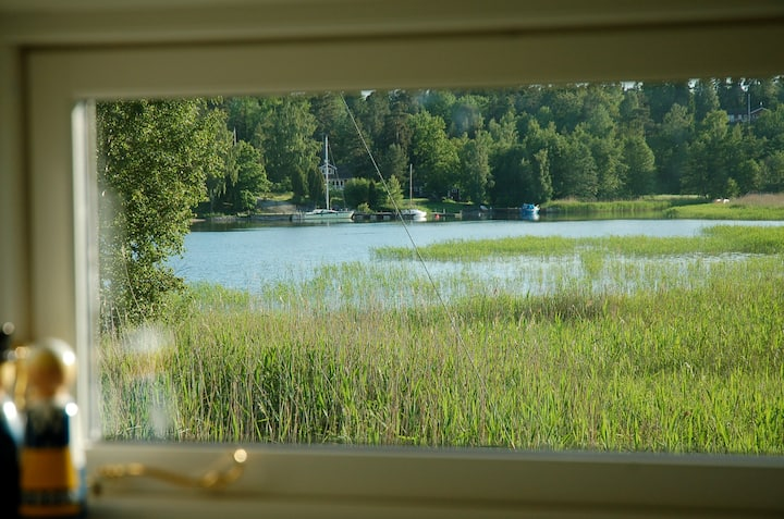 Cottage 25 meters to sea, boat with new 4 hp