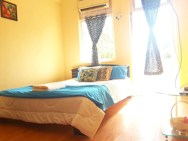 2 Private Ac Room + Kitchen + Balcony + Wi Fi