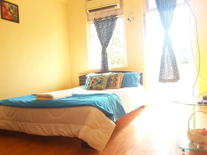 2 Private Ac Room + Kitchen + Balcony + Wi Fi