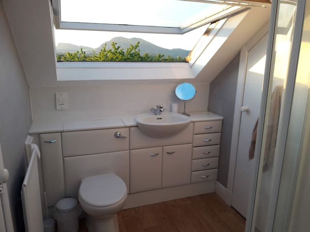 Shower room (top floor with views to Arthur's seat)
