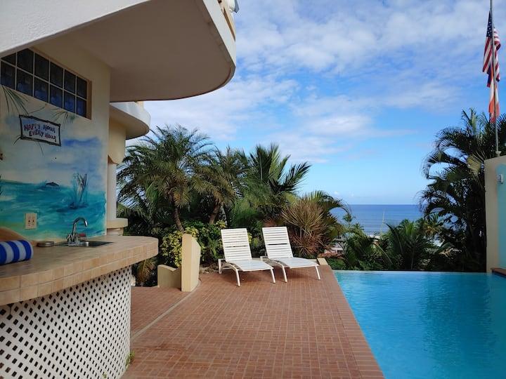 3 bed 3 bath Ocean View Paradise Apartment Rincon