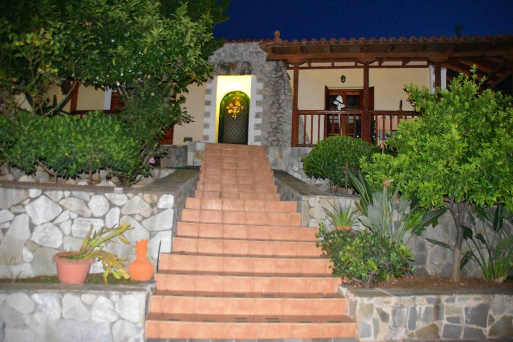 Stairway to house