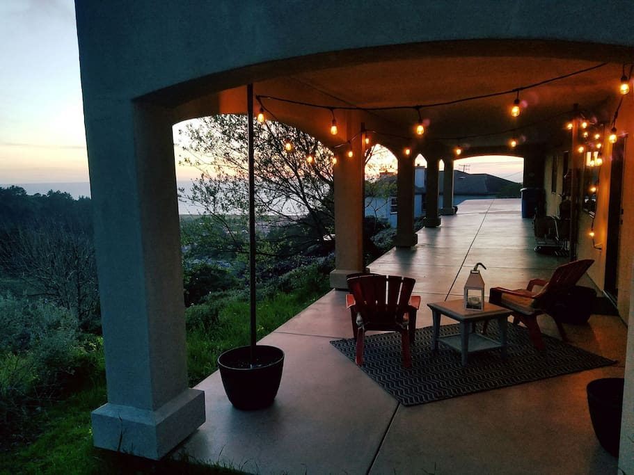 Just after the sunset, looking toward the ocean! Your own private veranda!
