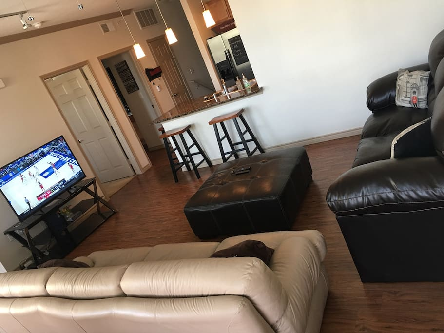 Spacious Living Area to Lounge and Watch TV