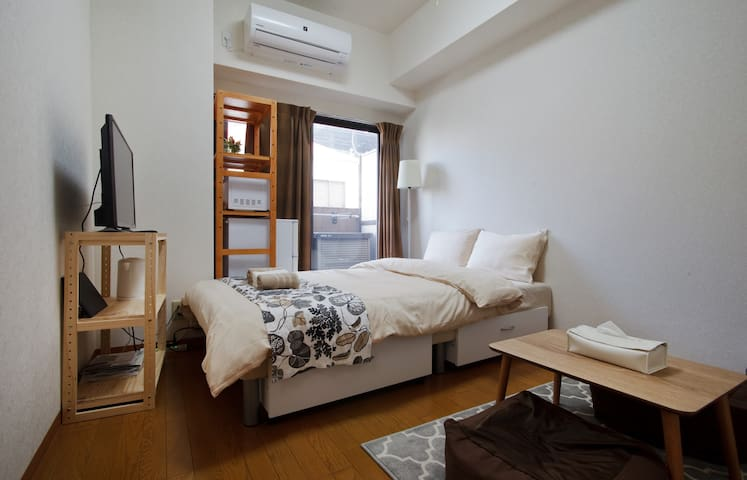 Cozy style/  2mins to station/  up to 3ppl #303 - Abeno Ward, Osaka - Appartement