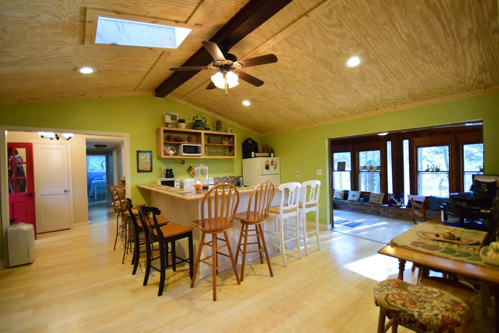 Fully equipped Kitchen has  abundant charm.