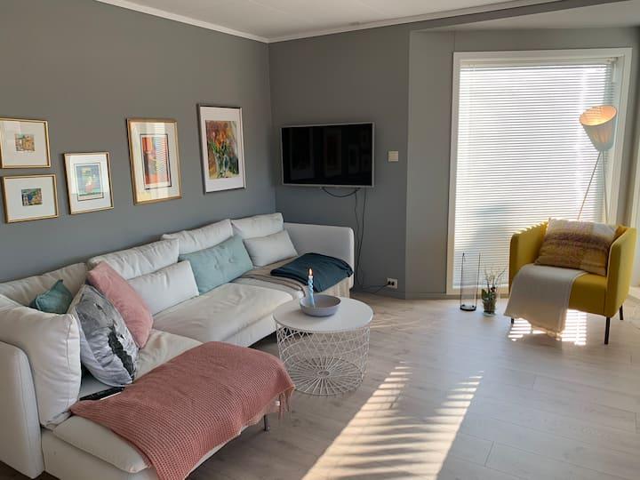 Svært solrik fresh leilighet i sentrum