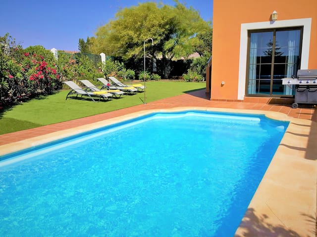 Golf course villa with private heated pool