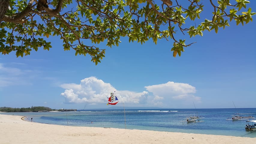 Nusa Dua beach in walking distance, best for relax and safe water