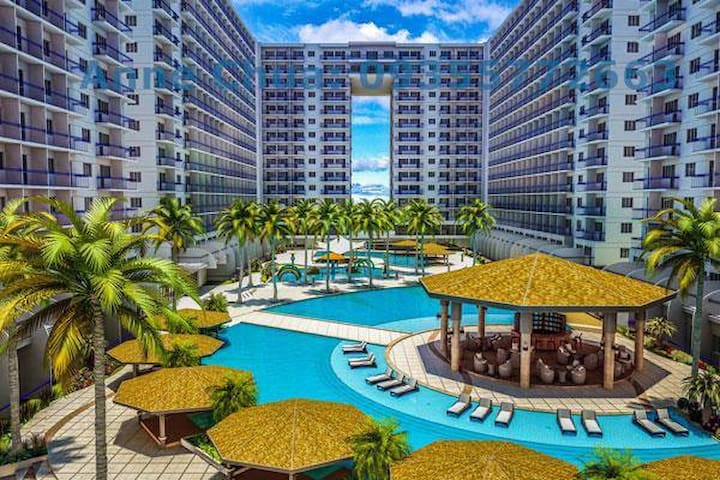 1 BR fully furnished condo @Shell across MOA- 1130