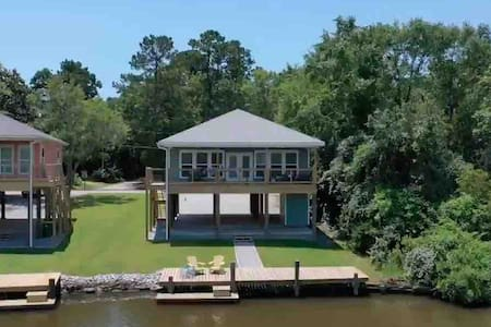 Bayou Reach House with Bayou Waterfront Views