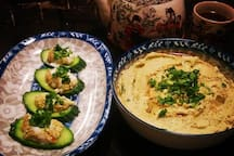 Homemade hummus.