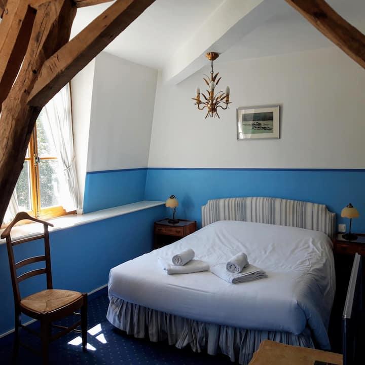 Jolie chambre 'bleue' au château!
