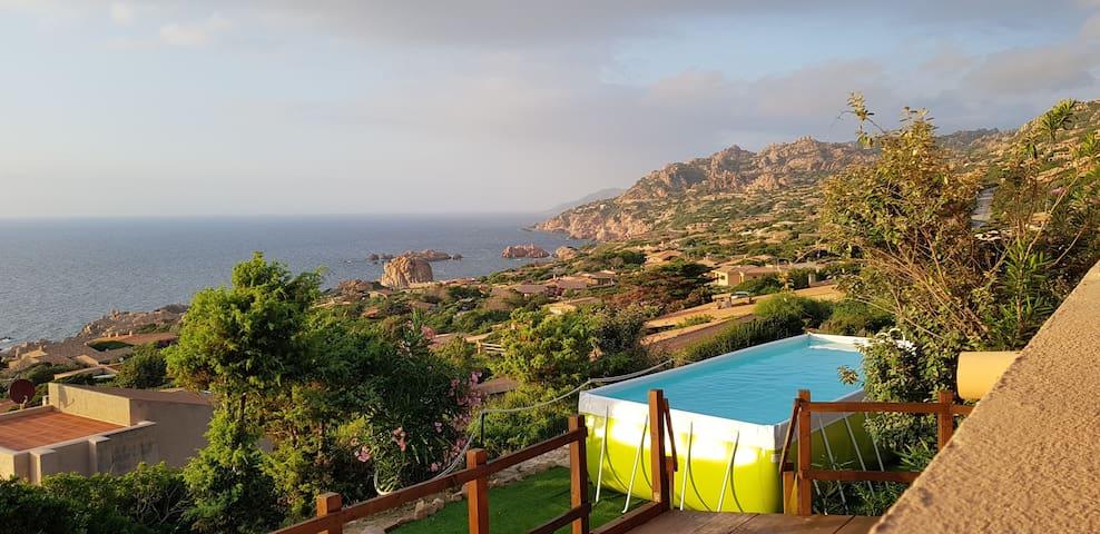 Romantica Villa per 2 vista mare