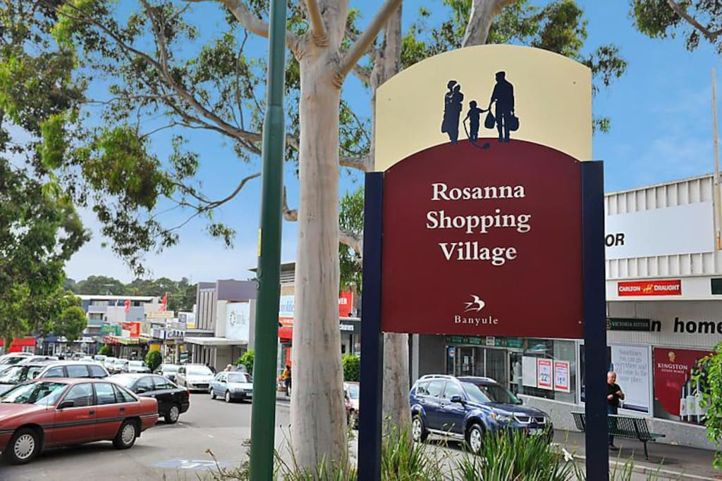 Rosanna shops just a couple minutes stroll away!