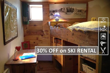 SKI AT 15mn -  FREE PICKUP &PARKING, TERRACE &FOOD