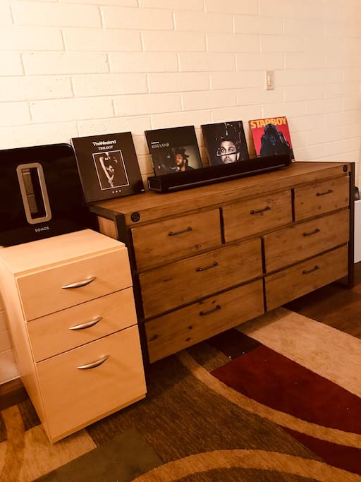 Drawers for Office Supplies on the Right & Dresser for Clothes on Left