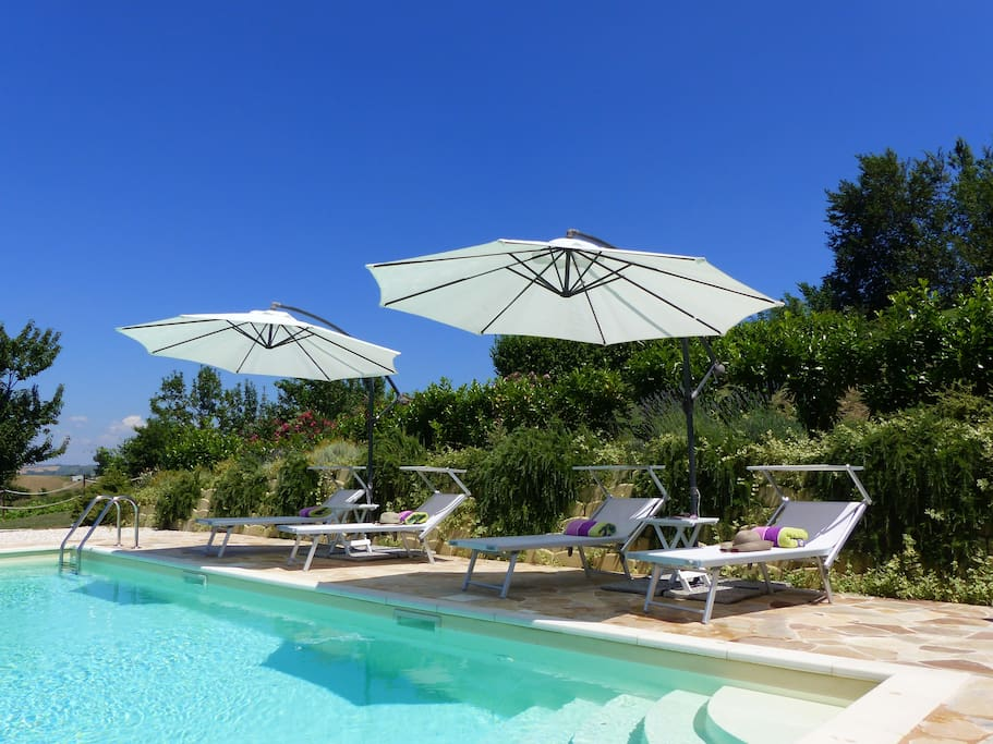Villa Miramonti - our beautiful panoramic pool, ideal for relaxing!
