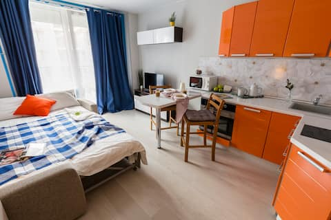 Orange Seaside Apartment