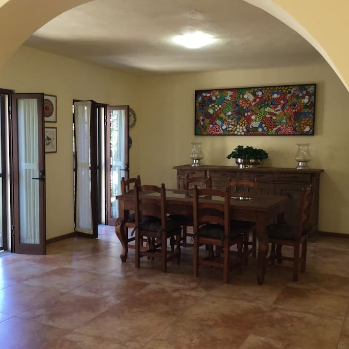 Dining room Mexicana style o comedor estilo mexicano