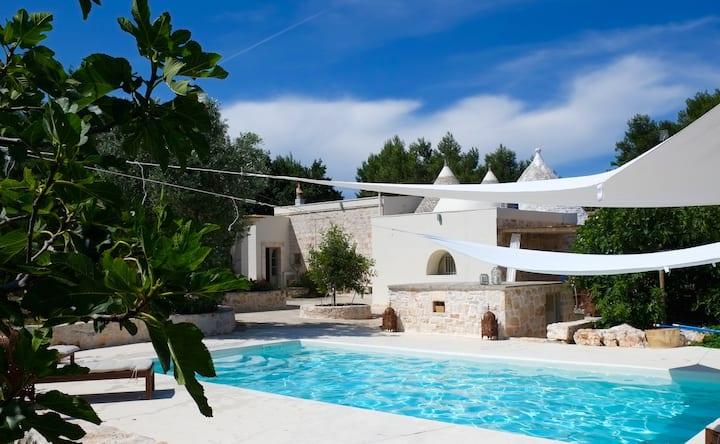 Trullo with salt water pool, Puglia