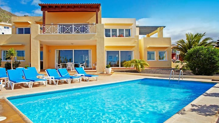 Stunning 5 bedroom villa with private heated pool.