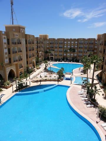 Appt Haut St vue piscine Folla Resort Sousse.