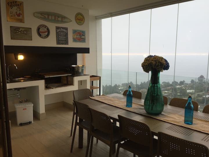 Moderno Depto vista 360 ,deporte, playa privada.