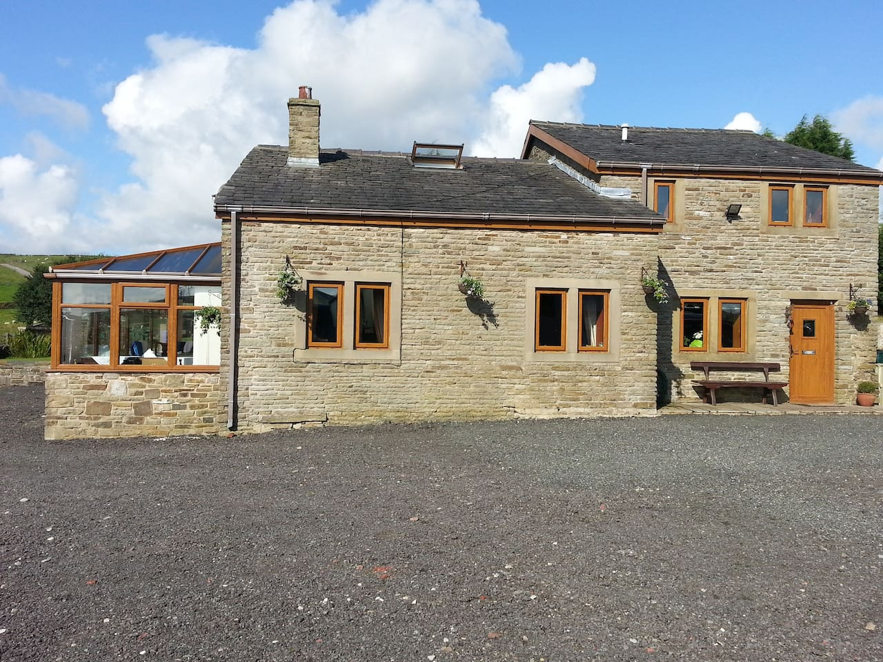 Country property with easy close access to main roads  and routes to major towns.  Lots of private parking