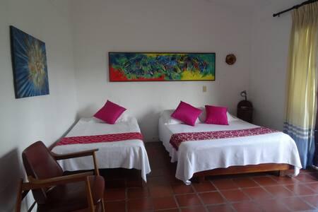habitacion cuadruple en hermosa finca santagueda - มานิซาเลส - วิลล่า