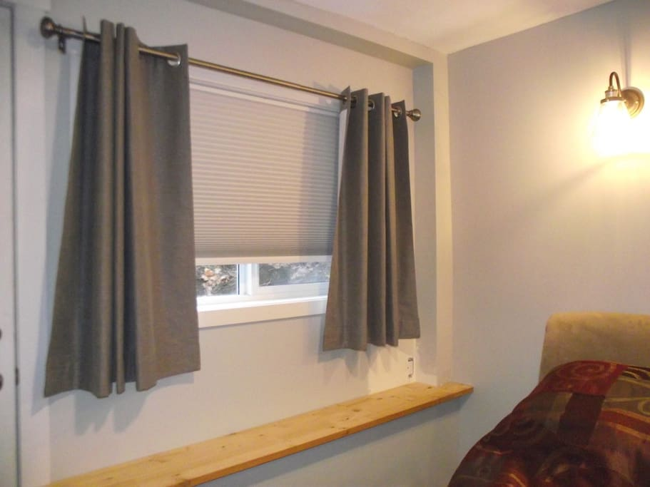 Black out blinds and black out curtains to support those sleep days after a night shift or late arrival.