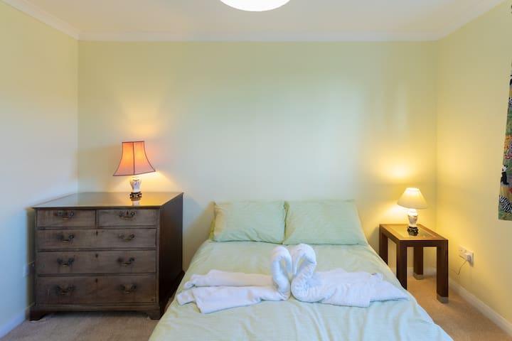 "Bedroom 3 - Double Room  [Standard double mattress size = 4'6"" x 6'3""]"