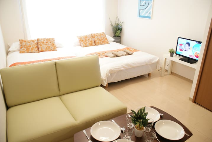 Cozy 4mins to Namba Dotonbori+Free WIFI and TV - Chuo Ward, Osaka - Huoneisto