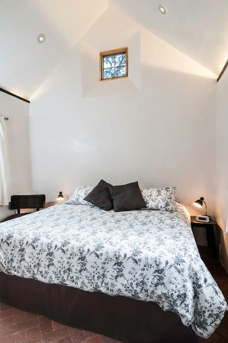 1 Private Bedroom with soaring ceilings, private and luxurious king size bed.