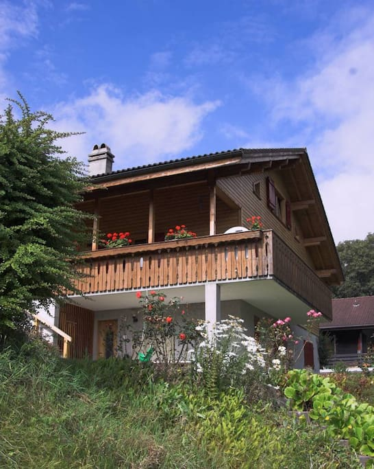 the flat is part of a 3 story chalet (rented separately)