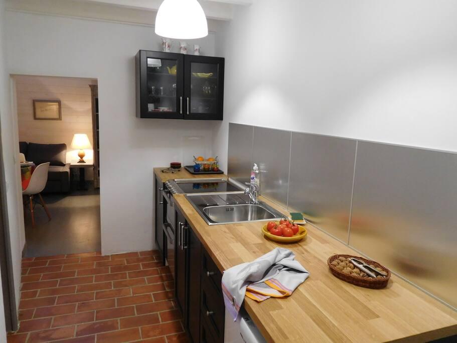 la cuisine vue séjour