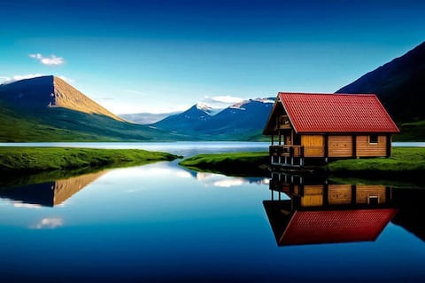 Cosy chalet by the lake