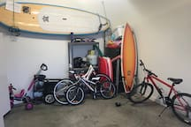 Bikes and surf boards