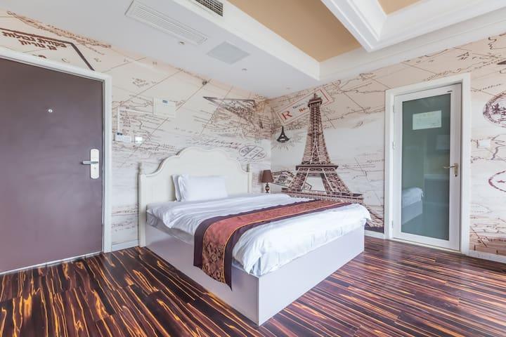环球中心新会展埃菲尔铁塔观景大床房 - Chengdu - Serviced apartment