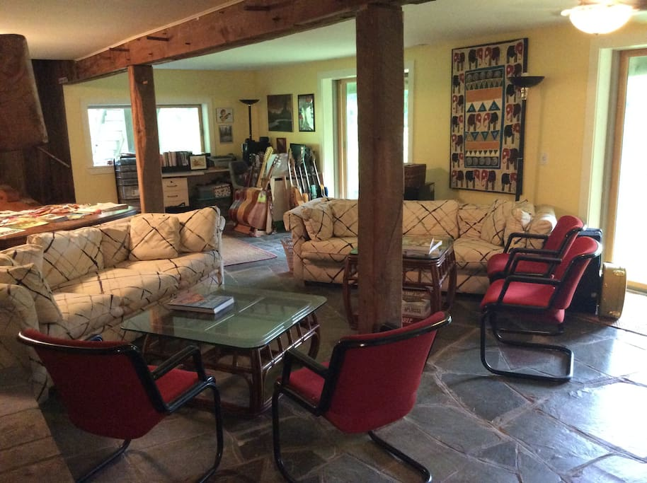 The lower level sitting room