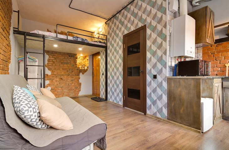 Сharming&spacious loft apartment