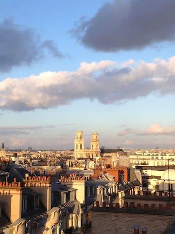 Studio en duplex, vue incroyable - Paris - Apartemen