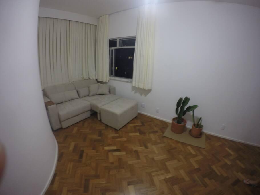 Comfortable sofa, Renewed wooden floor